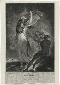 Good saint gone bad: Joan attempts to conjure some evil spirits in this 1795 print from the Folger Library.